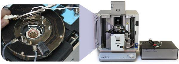 Electrochemistry cell for the Cypher ES atomic force microscope, enabling EC-AFM measurements