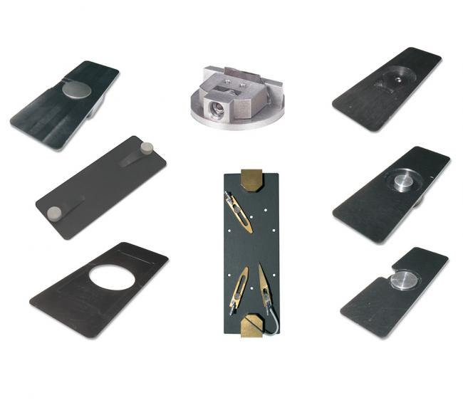 A wide variety of sample mounts are available for MFP-3D AFMs